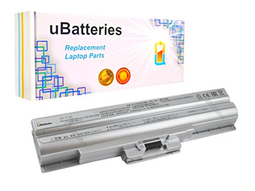 Click to buy UBatteries Laptop Battery Sony VAIO VGN-BZ579N04 VGN-SR140E/S VGN-CS108E/R VGN-CS108E/Q VGN-SR190 VGN-SR165N/B - 11.1V, 5200mAh, Samsung 2.6A Cells - UBMax Series (Silver) - From only $52.95
