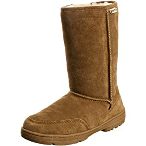 BEARPAW Women's Meadow Boot,Hickory/Champagne,10 M US
