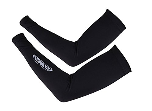 4ucycling Unisex Compression Fit Athletic Arm Sleeves Cooler with Spandex Mesh Arm Warmers