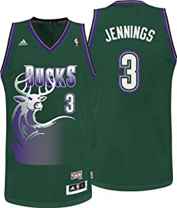 Brandon Jennings Milwaukee Bucks Hardwood Classics Jersey by adidas