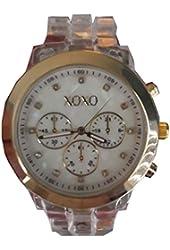 XOXO Women's XO5445 Clear Bracelet with Gold Case Watch