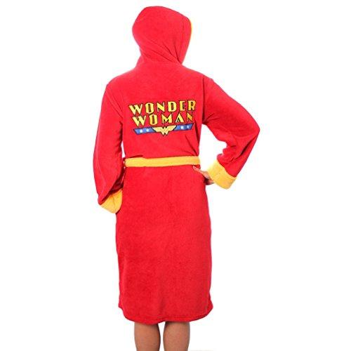 Ufficiale Wonder Woman Logo Rosso Pile vestaglia Accappatoio