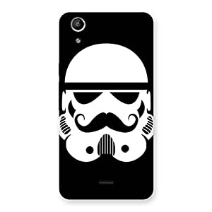 Delighted Mustach Black Back Case Cover for Micromax Canvas Selfie Lens Q345