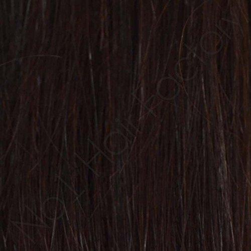 45,7cm Clip in 100% remy-Echthaar Extensions dunkelbraun 2#