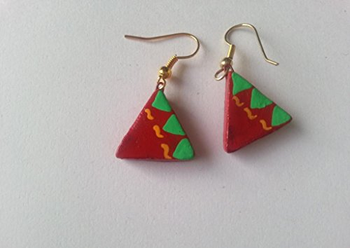 Artis Terracotta triangle danglers for Women
