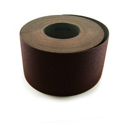 "4"" X 60 Ft 100 Grit Cloth Drum Sanding Roll, 1Pk"