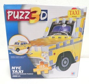 Puzz 3D NYC Taxi Foam Backed Puzzle (115 Pieces) by Hasbro - 1