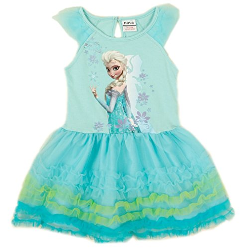 Nova Frozen Princess Elsa and Anna Girls Fancy Dress Cosplay Costume Dress,2-6y