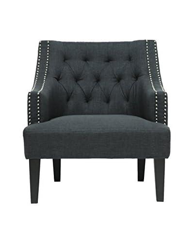Baxton Studio Millicent Linen Arm Chair, Grey