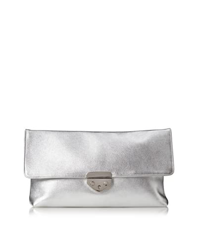 HAYVEN Women's Natalie Clutch, Iridescent Pearl As You See