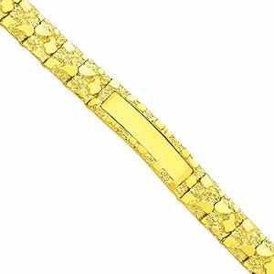 14k 12.0mm Nugget ID Bracelet