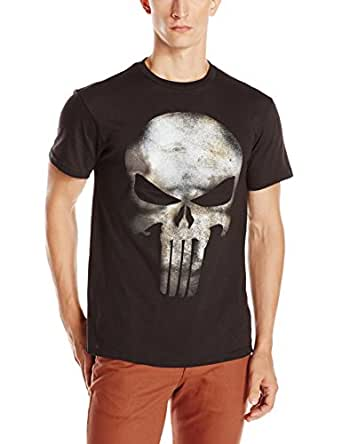 Punisher No Sweat Skull Logo Mens Black T-Shirt | M