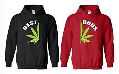 Xekia BEST Buds Pot Leaf Marijuana Weed Cannabis Couple Unisex Hoodie
