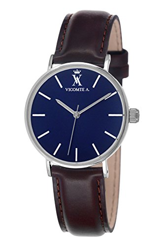 a-vicomte-020-va-gu-mens-watch-analogue-quartz-dial-brown-leather-strap-blue