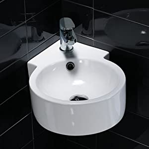 Willow Wall Mounted Cloakroom Corner Basin: iBathUK: Amazon.co.uk: DIY ...