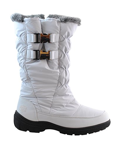 Totes Womens Beatrix Snow Boot,White,11 Apparel