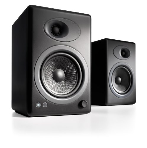 Audioengine A5+ Powered Multimedia Speakers Pair in Satin Black Black Friday & Cyber Monday 2014