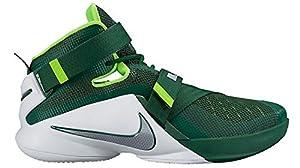 Nike Men's Lebron Soldier IX TB 749498 301 Green/Silver/White/Electric Green Size 8.5