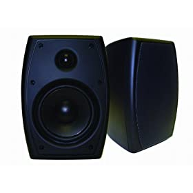 AudioSource LS52B 5.25-Inch Two-Way Indoor/Outdoor Speakers (Pair) (Black)