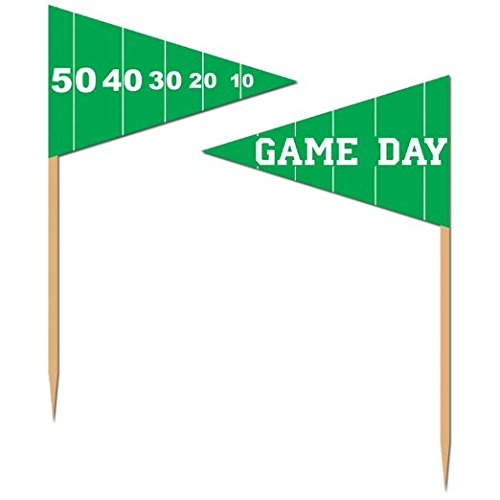 Beistle 60106 50-Pack Game Day Football Picks for Parties, 2-1/2-Inch (Football Party Picks compare prices)