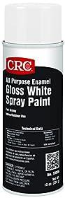 CRC All Purpose Enamel Spray Paint, 10 oz Aerosol Can, Gloss White