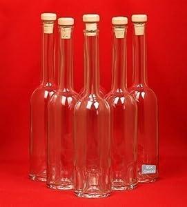 10 leere glasflaschen 200ml oper kleine flaschen mit holzgriffkorken verschluss 0 2l liter. Black Bedroom Furniture Sets. Home Design Ideas