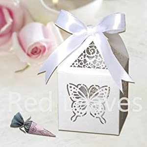 Box Candy Box for Wedding Party Supplies Color White : Office Products