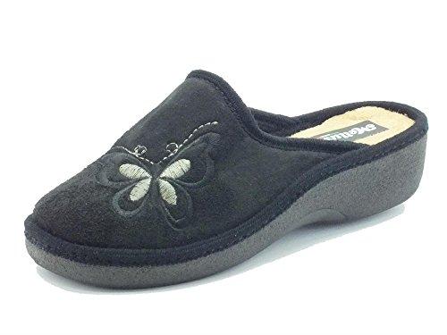 Pantofole Melluso in tessuto nero (Taglia 40)
