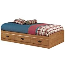Hot Sale Prairie Collection Twin Storage Bed Country Pine finish