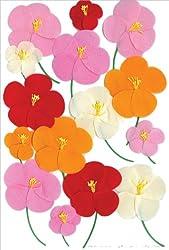 Martha Stewart Crafts Stickers, Pink, Red, and Orange Poppy