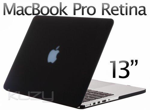 >>  Kuzy - Retina 13-Inch BLACK Rubberized Hard Case for MacBook Pro 13.3