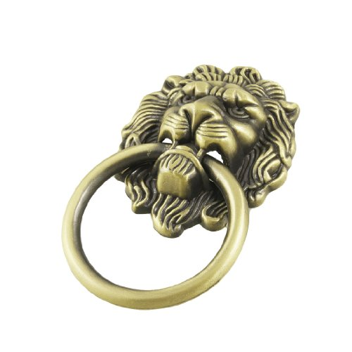 TOOGOO(R) Antique Style Bronze Lion Head Design Drawer Ring Pull Handle Knob - 1