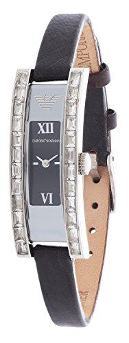 Emporio Armani AR5571 - Reloj para mujeres, correa de cuero color negro