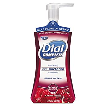 Dial Complete 03016 Power Berries Antiox Antibacterial Foaming Hand Wash, 7.5 oz, (Case of 8)