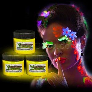 Glominex Glow Body Paint 1 Oz Jar - Yellow