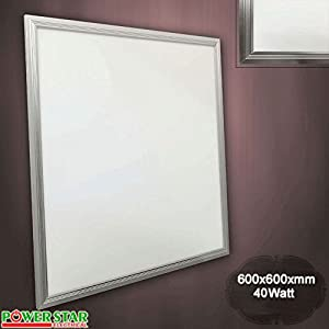 600 x 600mm 40W LED Ceiling Flat Tile Panel Light Downlight Bulb Daylight 6000k from Powerstar Electrical