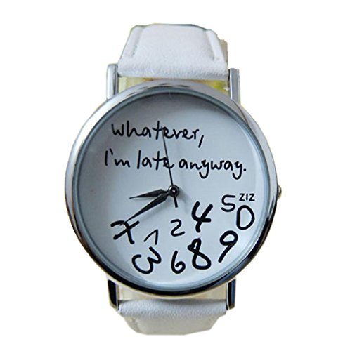 patron-de-moda-relojes-feitong-nueva-mujer-whatever-i-am-late-anyway-letra-relojes-mujer-fashion-wat