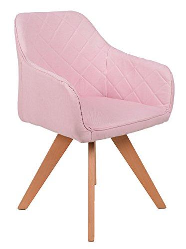 ts-ideen-Lounge-Design-Sessel-Barsessel-Clubsessel-Stoff-in-Rosa-Esszimmer-Stuhl-Fe-aus-Buchenholz