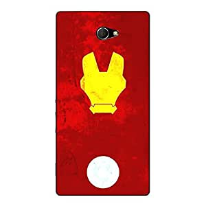 Jugaaduu Superheroes Ironman Back Cover Case For Sony Xperia M2 Dual