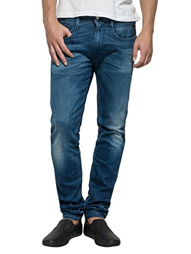 Replay Uomo Anbass Slim Fit Jeans, Blu, 34W x 32L