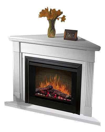 Dimplex Bcc3336W5 33-Inch Corner Built-In Firebox Cabinet, White