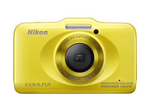 Nikon COOLPIX S31 10.1 MP Waterproof Digital Camera with 720p HD Video (Yellow)