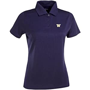 Antigua Ladies Washington Huskies Exceed Desert Dry Xtra-Lite Moisture Manageme by Antigua