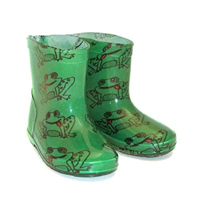 Kids PVC Frog Wellies