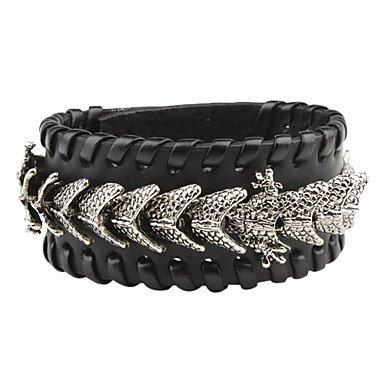 The Chinese Dragon Leather Bracelet