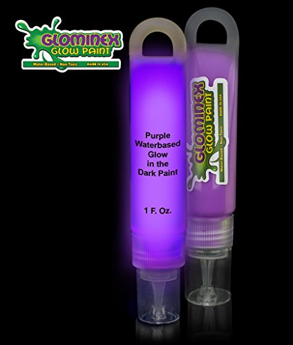 Glominex Glow in the Dark Paint - 1 oz Tube - Purple