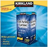 Kirkland Signature Fast Acting Lactase - Compare to Lactaid - 180 Caplets
