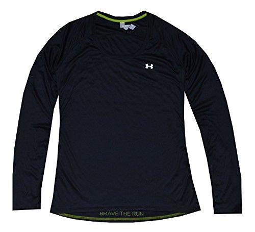 Under Armour Women UA Catalist Running Heatgear Long Sleeve T-Shirt (M, Black)