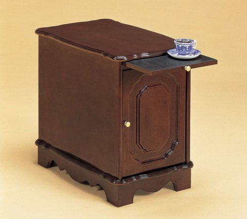 Coaster 900360 Side Table/Cabinet with Pullout Tray, Cherry