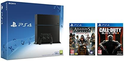 PlayStation 4 - Consola 500GB [Nuevo Chasis] +  Call of Duty: Black Ops III + Assassin's Creed: Syndicate